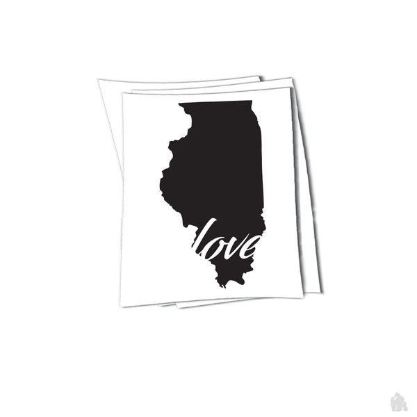 illinois love sticker