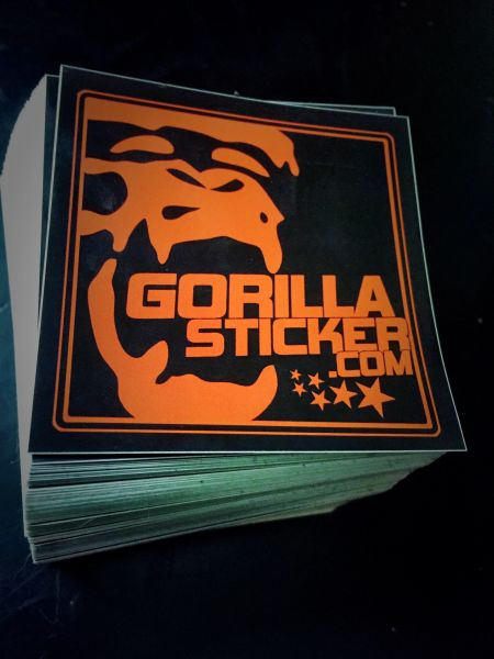 """3"""" square custom printed vinyl stickers great for indoor/outdoor qty 100-5000"""