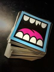 """2"""" square custom printed vinyl stickers great for indoor/outdoor qty 100-5000"""