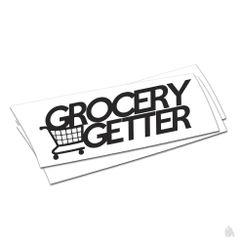 grocery getter sticker