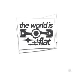 the world is flat Sticker