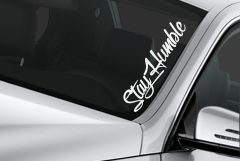 custom windshield banner sticker