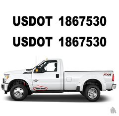 US DOT numbers truck stickers