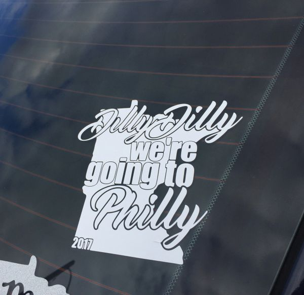 Dilly Dilly we're going to Philly! Minnesota vikings sticker