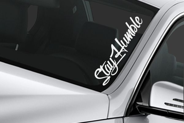 stay humble windshield banner sticker