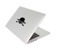 "Macbook pro Skull decal ""EYES LIGHT UP"""