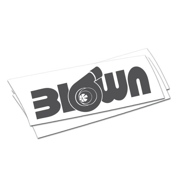Blown turbo sticker