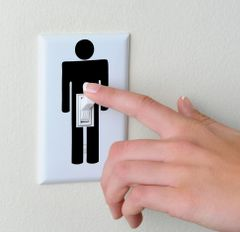 penis light switch sticker
