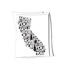 California home is where your heart is sticker