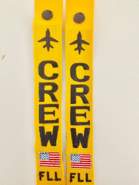 FLL CREW (yellow tag with black letters USA flag) get 2 tags!