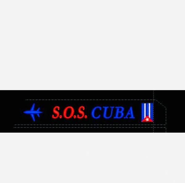 S.O.S CUBA 🇨🇺 Luggage tag