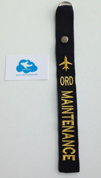 ORD Maintenance Crew Luggage Tag (Yellow)