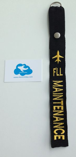 FLL Maintenance Crew Luggage Tag (Yellow)