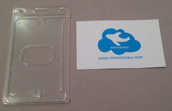 Hard Plastic Badge Holder (clear)