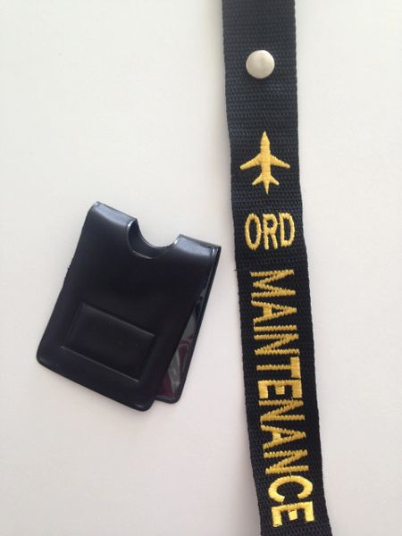 ORD Maintenance Crew Tag and Magnetic Badge Holder (Maintenance)