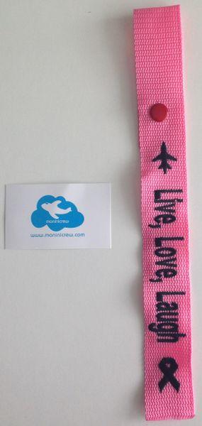 Live, Love, Laugh Breast Cancer Awareness (Pink/Black)