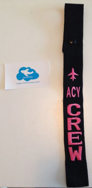 ACY Crew Luggage Tag (Pink)