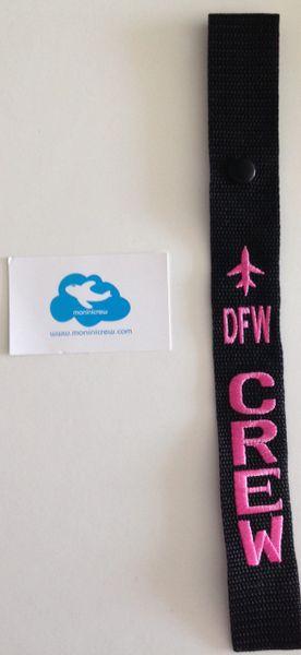 DFW Luggage Tag (Pink)