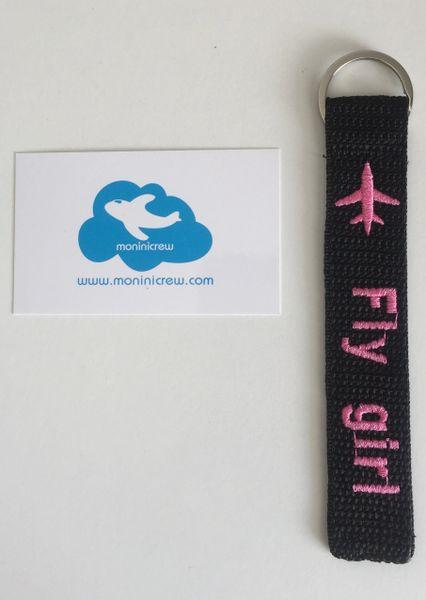 Fly Girl Key Ring Tag (Pink)