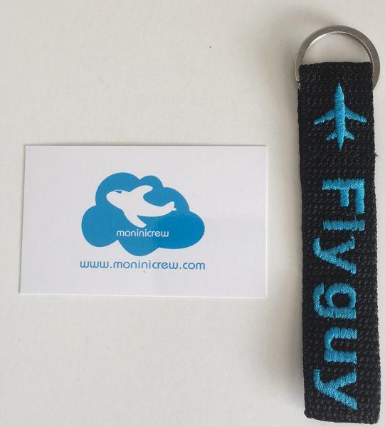 Fly Guy Key Ring Tag (Blue)