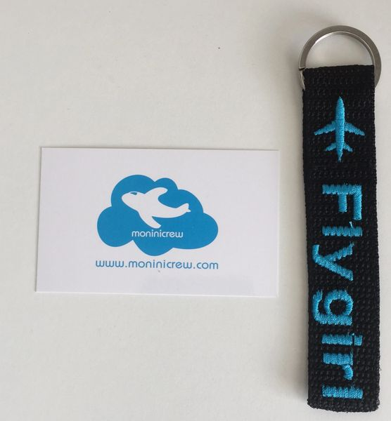 Fly Girl Key Ring Tag (Blue)