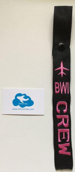 BWI Crew Luggage Tag (Pink)