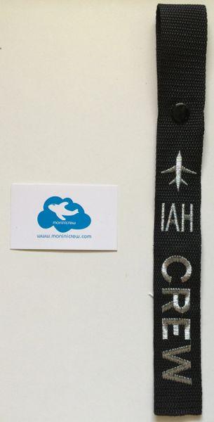 IAH Crew Luggage Tag (Silver)