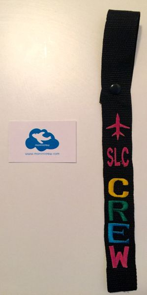 SLC Crew Luggage Tag (Pink Plane/Multi-Color)