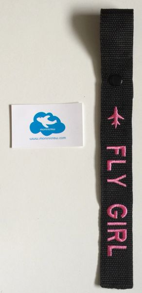 Fly Girl Crew Luggage Tag (Pink)