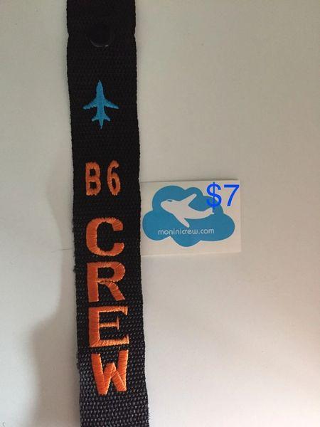 Jetblue B6 Crew Luggage Tag (Orange/Blue)