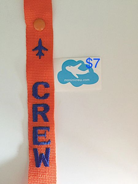 Jet Blue Crew Luggage Tag Orange/Blue