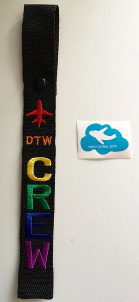 DTW Crew Luggage Tag (Pride)
