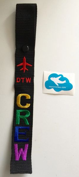 DTW Crew Luggage Tag (Pride)(Red Plane)