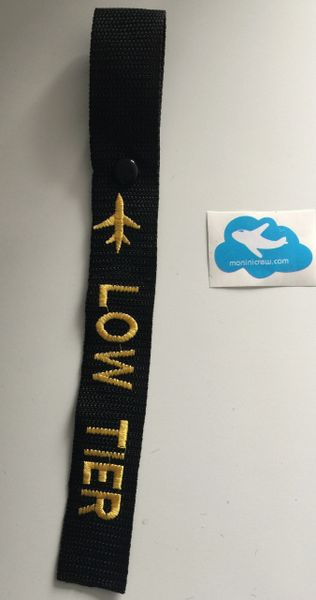 Low Tier Luggage Tag (Yellow)