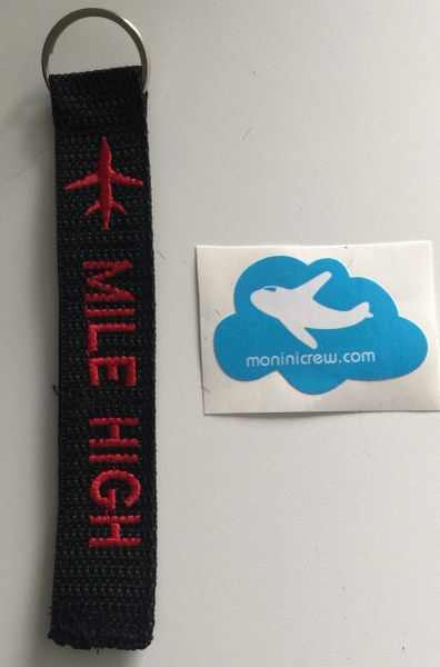 Mile High Key Tag (Red)
