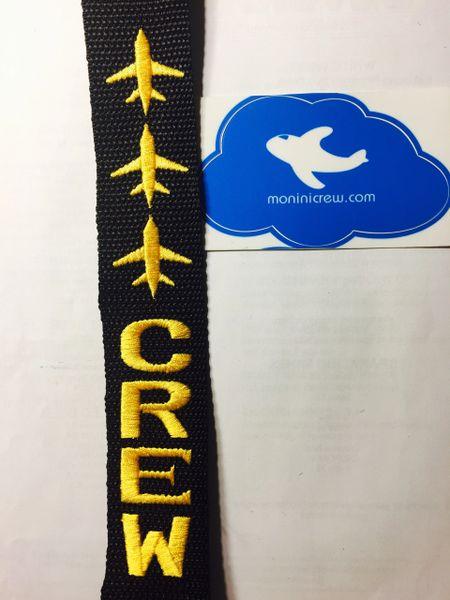 3 Plane Crew Luggage Tag (Yellow)