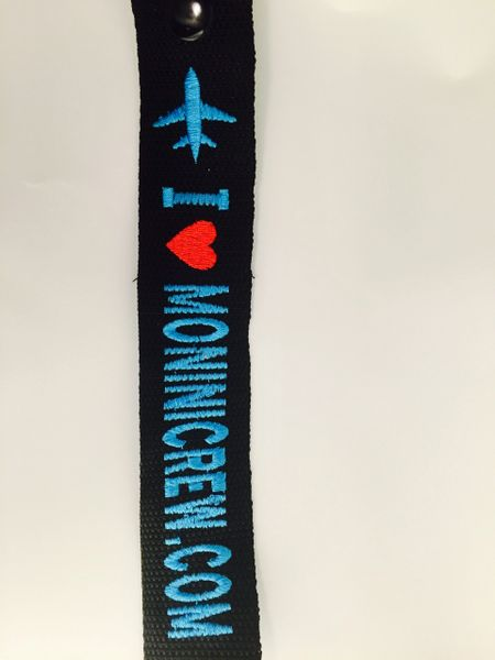 I love moninicrew luggage tag (turquoise blue)