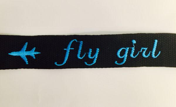 """fly girl (turquoise) and 4 luggage tags with the word """"CREW"""" (5 TAGS TOTAL)"""