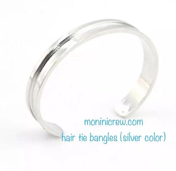 Hair tie bangle (silver color)