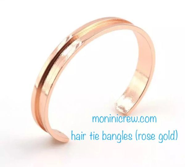 Hair tie bangle (rose gold color)