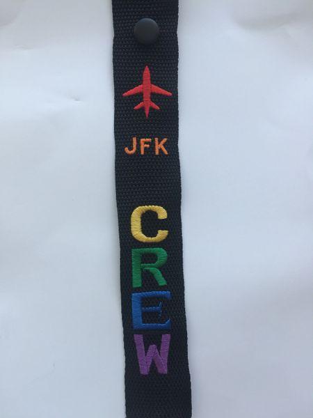 JFK CREW luggage tag (pride color)