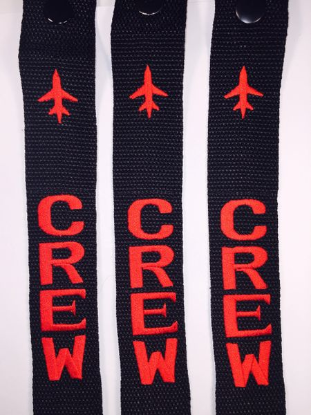 Crew (3 red tags) non rev jumpseater combo