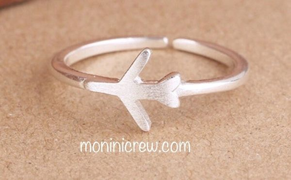 Airplane ring sterling silver (adjustable size)