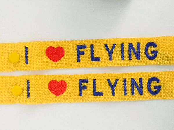 I love flying ❤️ Combo 2 Luggage tags (Yellow)