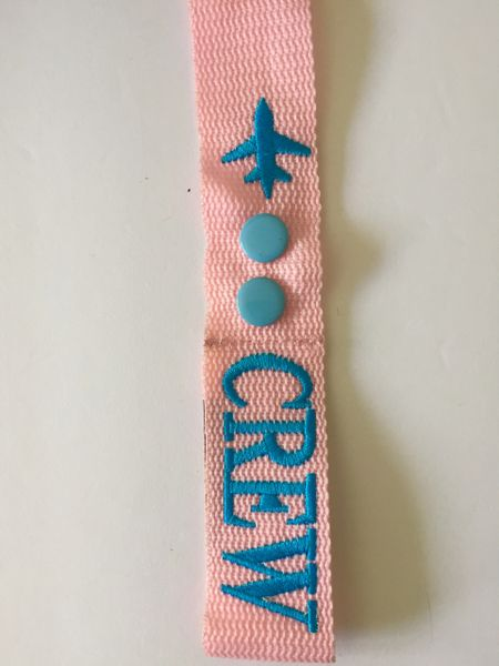 """CREW TAG pink-blue (double button -6.5"""")"""