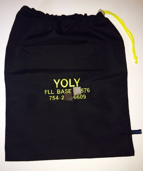 PERSONALIZED SHOE BAG (embroided in yellow)
