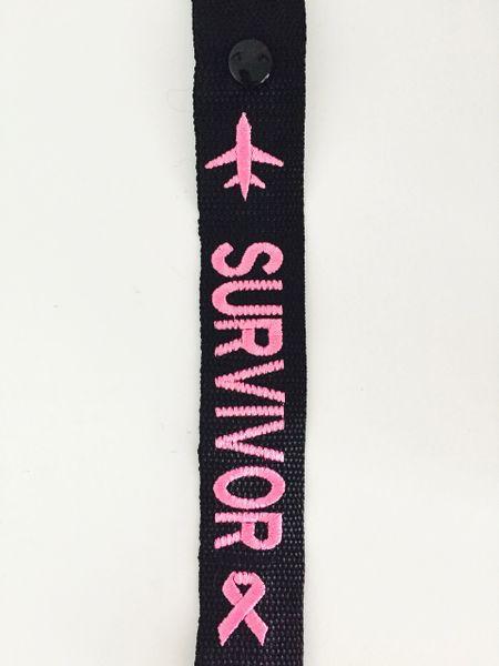 SURVIVOR luggage tag (pink)