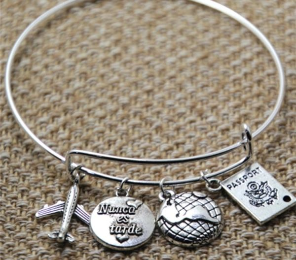 Crew charms bracelet (silver alloy)