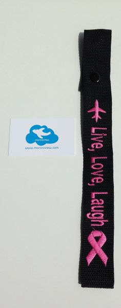 Live, Love, Laugh Crew Tag (Breast Cancer Awareness)
