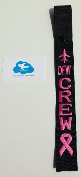 Pink DFW Crew Tag (Breast Cancer Awareness)